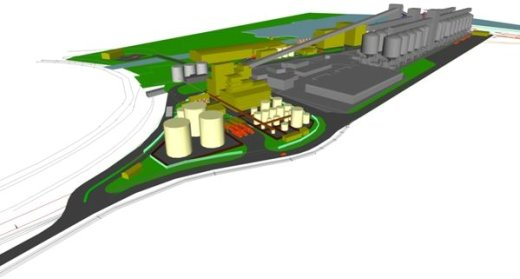 Ethanol and biodiesel news with model of proposed plant at Port Kembla Australia from National Biodiesel