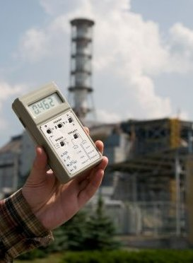 Chernobyl Near Sarcophagus Radiation Warning - iStockPhoto