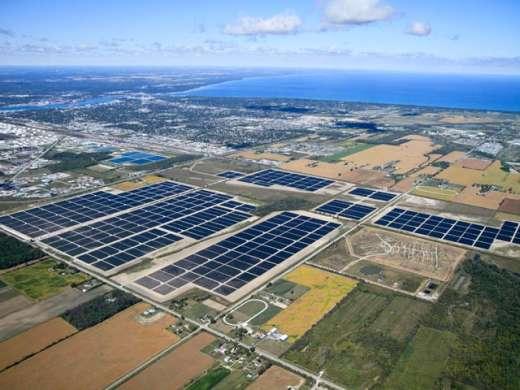 First Solar Installation at Ontario Canada Aerial Vie
