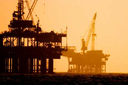 Fossil Fuels Off-shore Oil Rigs - iStockPhoto
