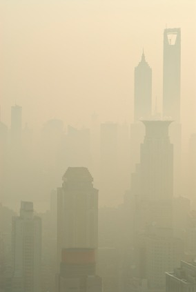 Fossil Fuels creating smog in Shanghai - iStockPhoto