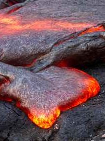 Magma reaching surface as lava - iStockPhoto