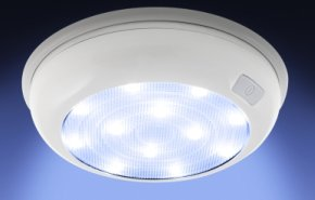 Alternative Home Energy as demonstrated with older LED downlight - iStockPhoto
