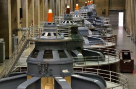 Hydroelectric Power Station Turbine Generators - iStockPhoto