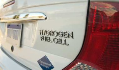 Hydrogen Fuel Cells power an Hydrogen Fuel Cell Car - iStockPhoto