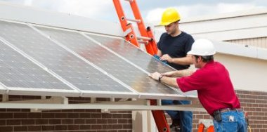 Home Solar Power Installing Panels - iStockPhoto