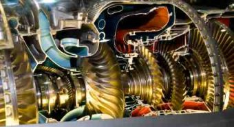 Jet Engine Turbine Detail - iStockPhoto