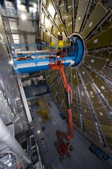 The Atlas Detector part of the Large Hadron Collider