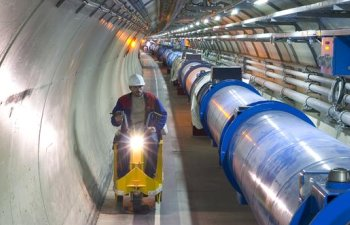 The Large Hadron Collider being inspected