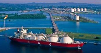 Liquid Natural Gas Tanker In Bay - iStockPhoto
