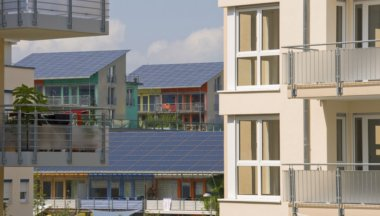 Home Solar Power Panels On Modern Houses - iStockPhoto