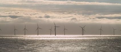 Offshore Wind Farm Burbo Bank Liverpool Bay - iStockPhoto