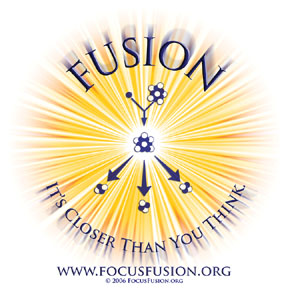 Focus Fusion Society graphic representation of a burst of nuclear fusion energy