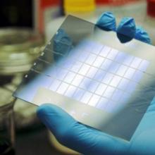 Solar Window Prototype Grid from New Energy Technologies