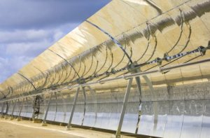 Solar Panels in Parabolic Array to Concentrate Energy - iStockPhoto