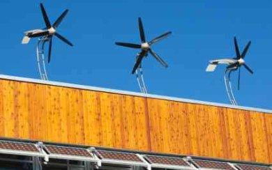 Residential Wind Turbine Triple Example - iStockPhoto