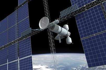 Solar Panels in a Satellite - iStockPhoto