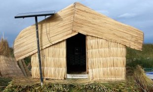 Home Solar Power Supply To Peruvian Reed House - iStockPhoto