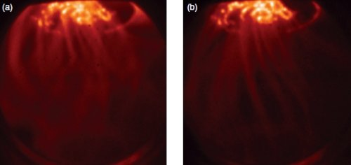Spheromak Plasma forming filaments in plasma formation process