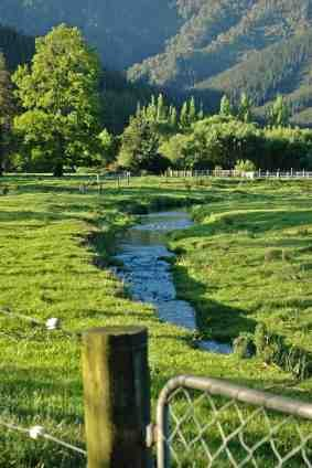 Ideal home hydropower with stream in paddock - iStock Photo