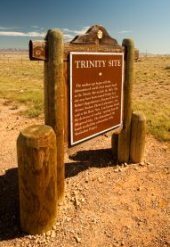 Sign for Trinity Test Site for Atom Bomb Test - iStockPhoto