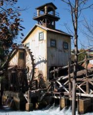 Water Wheels Such As Drove This Timber And Gold Mill
