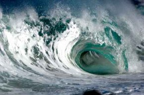 Wave Energy In Large Hawaiian Wave Tube - iStockPhoto