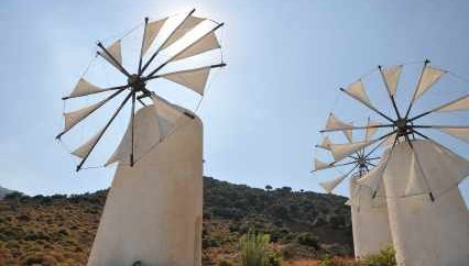 Sails Unfurled in Greek Windmills