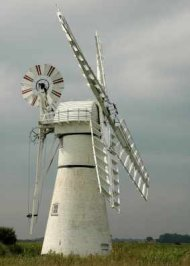 Wind Pump on Norfolk - iStockPhoto