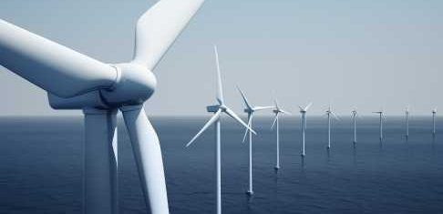 Offshore Wind Farm Wide Angle View - iStockPhoto