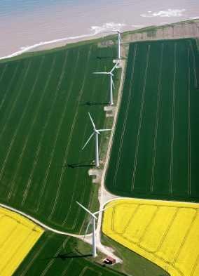 Aerial of Wind Turbines - iStockPhoto