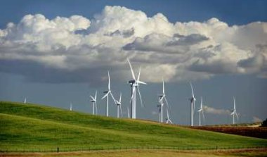 Wind Turbine on Rolling Hills - iStockPhoto