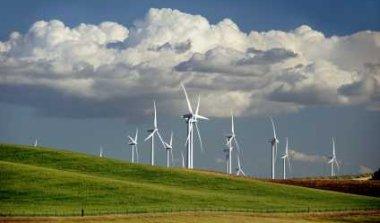 Wind Turbine on Rolling Hills - iStockPhoto