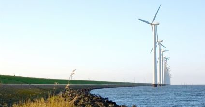 Wind Turbines Sited on Dutch Polder - iStockPhoto