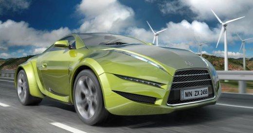 Concept of alternative energy car - iStock Photo