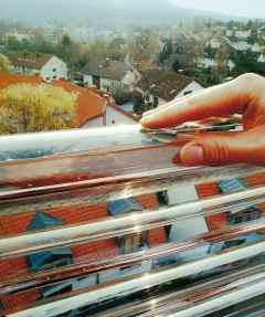Solar Heating From Balcony Rails