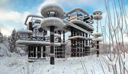 Experimental Marx Tesla wireless electricity transmission generator near Moscow