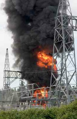 Electricity Substation Fire - iStock Photo