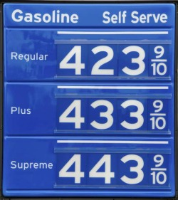 Fossil Fuels current high gas prices - iStockPhoto