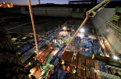 International Thermonuclear Experimental Reactor Tokomak Floor Concrete Pour December 2013