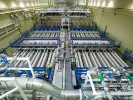 National Ignition Facility laser bay 2 for energy creation at fusion point