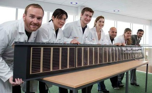 Dyesol Dye-Sensitized Solar Panel Incorporated into Tata Steel Roof Panel