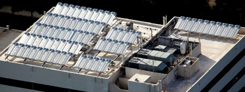 Solar Thermal Generator Array on Rooftop - Chromasun