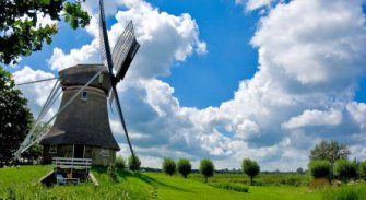 Traditional Dutch Windmill - iStockPhoto