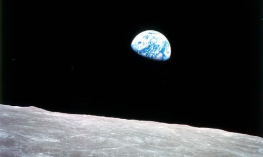 The unique colours and forms of earth rising above the Moon - from NASA