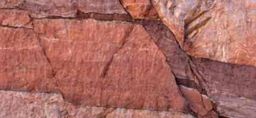 Fault lines showing clearly from shifting earth plates - iStockPhoto