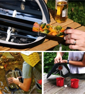 GoSun innovative portable solar water heater and food cooker currently funding on Indiegogo