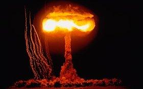 Hydrogen BombTest Nevada Desert 1953