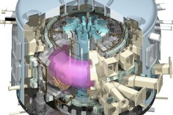 International Thermonuclear Experimental Reactor Tokamak Diagram Showing Plasma In Chamber