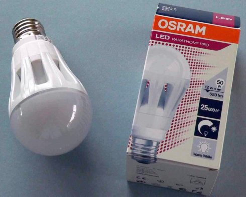 Current Osram Edison screw connection home lighting replacement